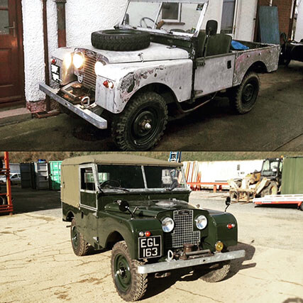 Before and After EGL Restoration / Rebuild by Bespoke Off Road